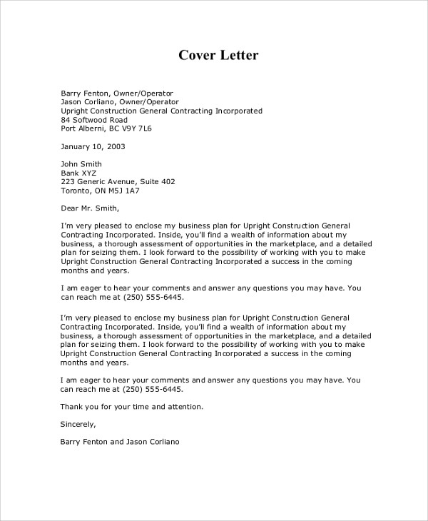 Sample Business Proposal Cover Letter - 7+ Documents In Pdf, Word inside Business Proposal Cover Letter Format 22384