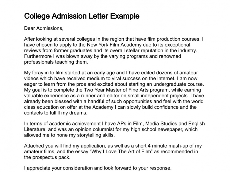 Sample College Application Letters - Asafon.ggec.co inside College Application Letter Format 23386