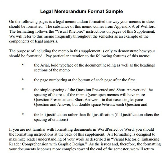 Memorandum Format Spacing  Examples And Forms