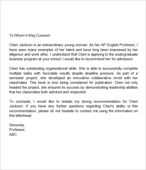 Letter format for middle school students examples and forms sample recommendation letter for middle school student letter of inside letter format for middle school students yelopaper Image collections