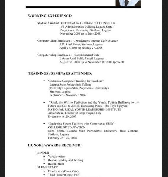 Sample Resume For Fresh Graduate Information Technology
