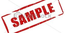Sample Stamp Clipart