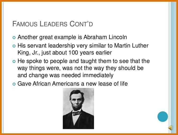 Servant Leadership Examples | World Of Example within Servant Leadership Examples 20589
