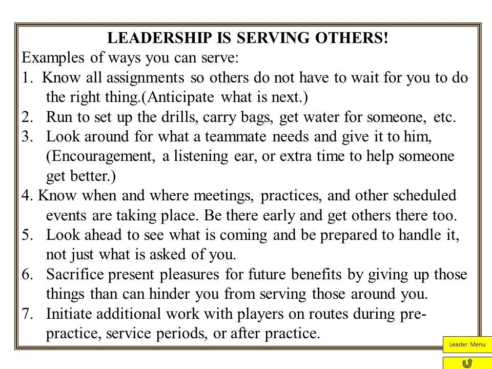 Servant Leadership From Jim Zorn | Coach And Coordinator for Servant Leadership Examples 20589