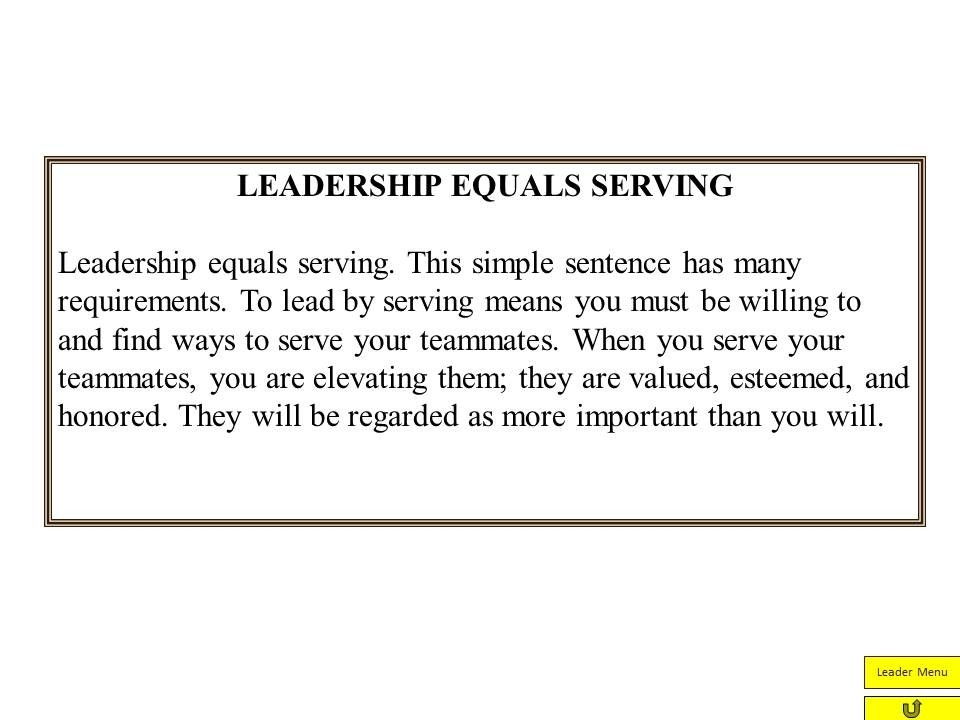 Servant Leadership From Jim Zorn | Coach And Coordinator with regard to Servant Leadership Examples 20589