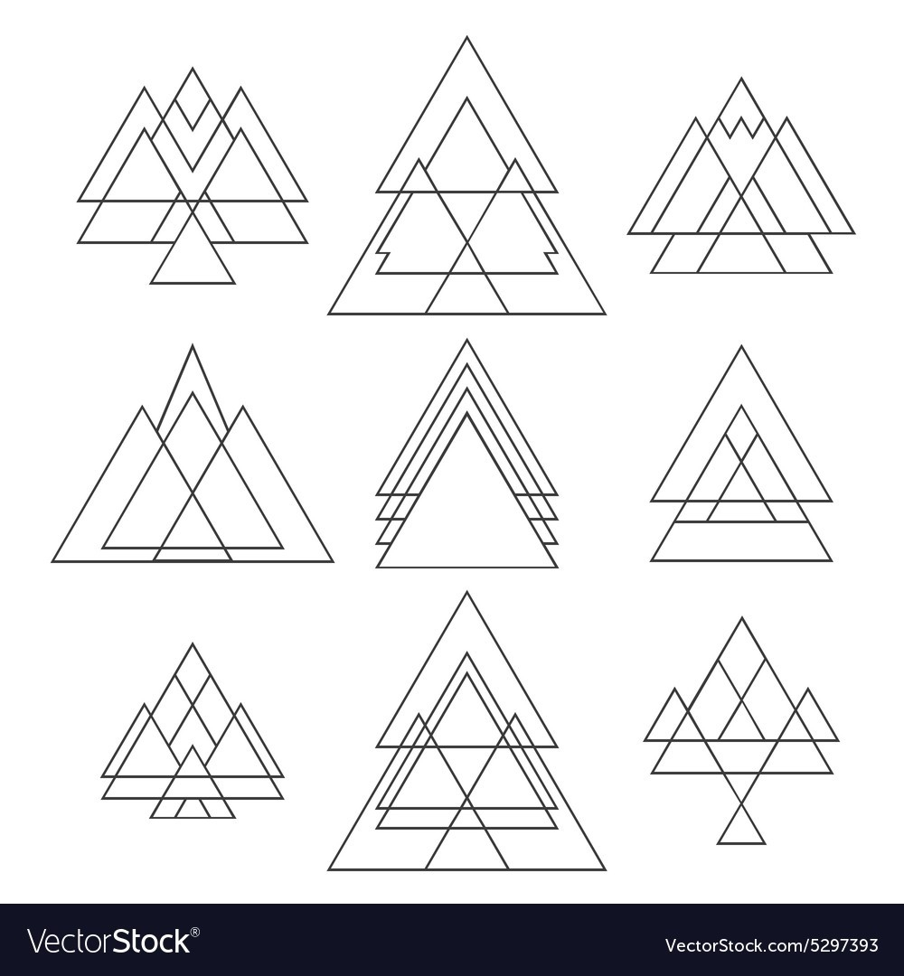 Set Of Trendy Geometric Shapes Geometric Hipster Vector Image within Geometric Shapes