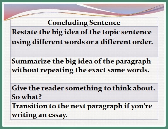 Seventh Grade Lesson Concluding Sentences | Betterlesson for Conclusion Paragraph Examples 5Th Grade 20770