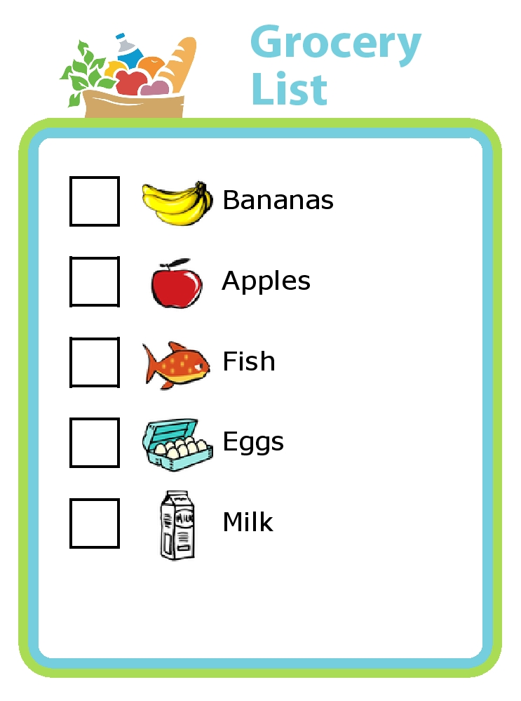 Shopping List Clipart 1 | Clipart Station throughout Shopping List Clipart 20308