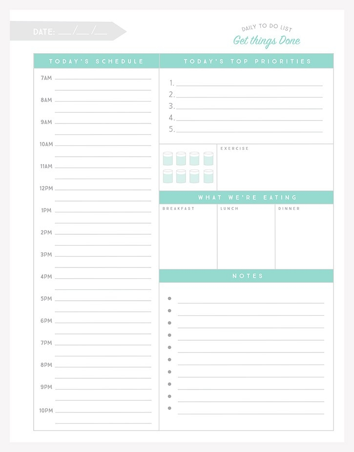 Simple As That Daily To Do List - Simple As That throughout Printable Daily To Do List 24383