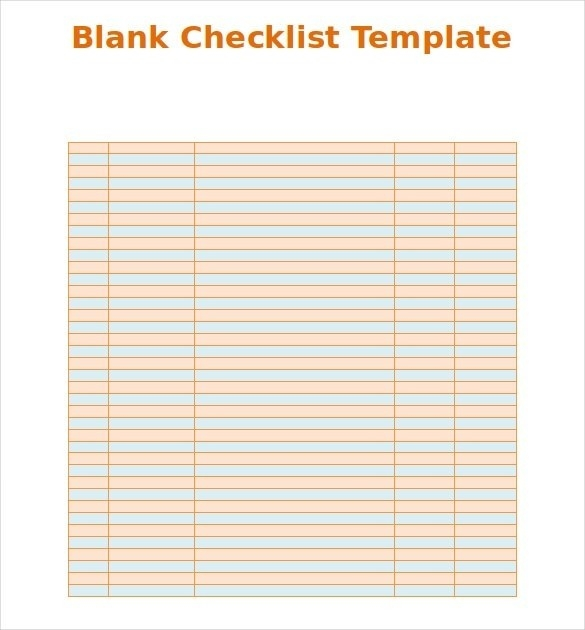 Simple Checklist Template | Examples And Forms pertaining to Simple Checklist Template Word 24293