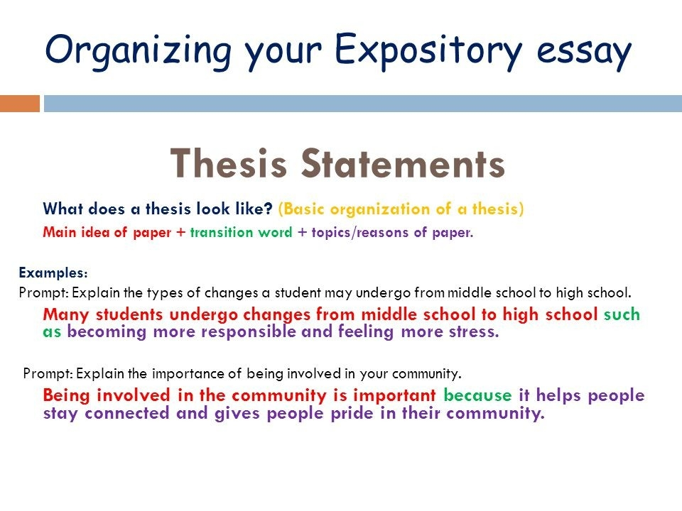 Simple Thesis Example Pics - Proyectoportal inside Thesis Statement Examples Expository Essay 21271