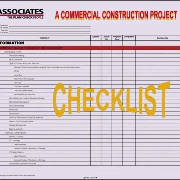 Spreadsheet Templates  Project Management Checklist Template