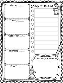 Teacher Weekly To Do List | World Of Example inside Teacher Weekly To Do List 21631