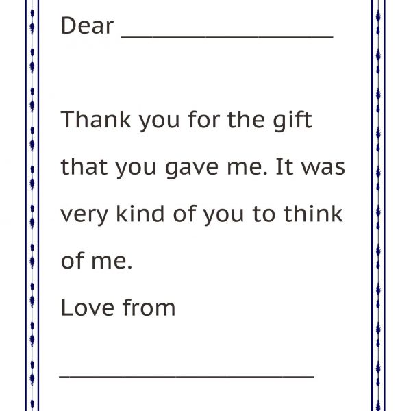 thank you letter format for kids letters pertaining to thank you letter format for kids