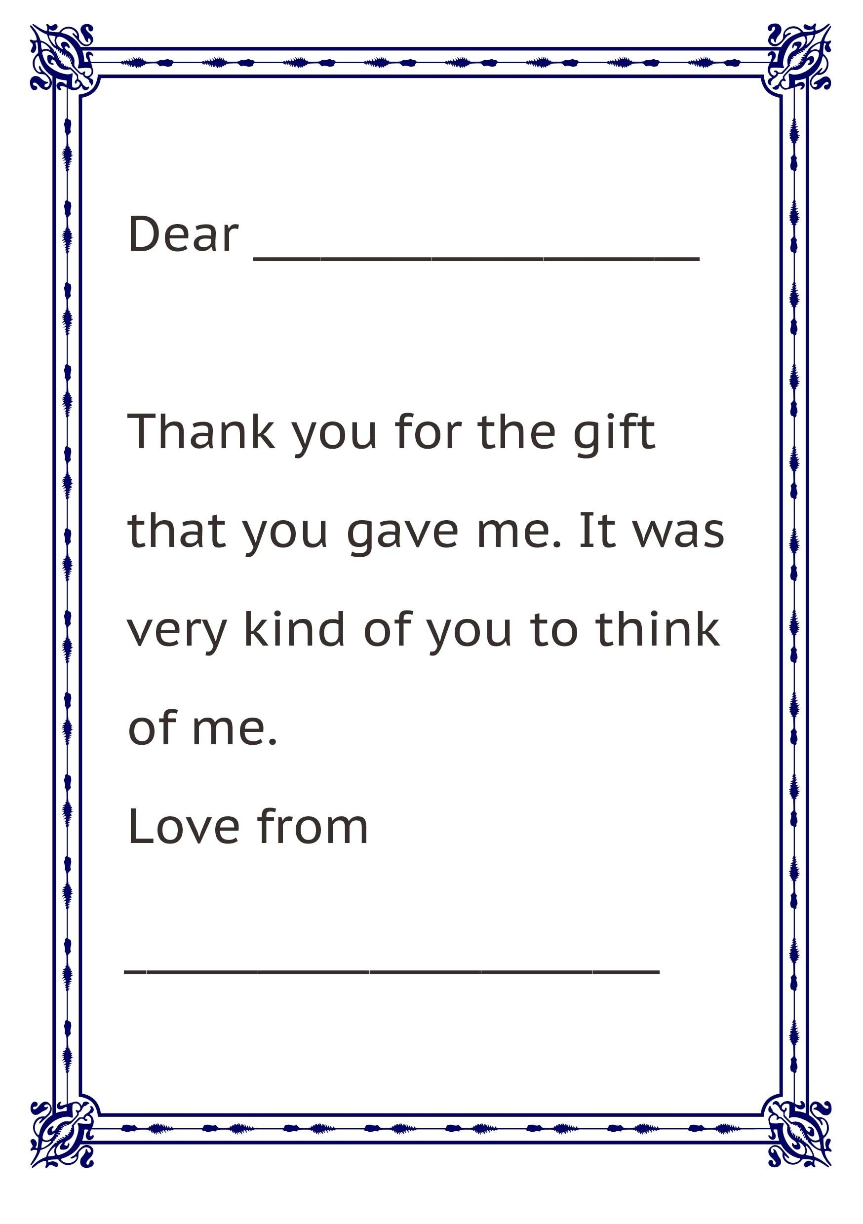 Thank You Letter Format For Kids | Letters pertaining to Thank You Letter Format For Kids 20931