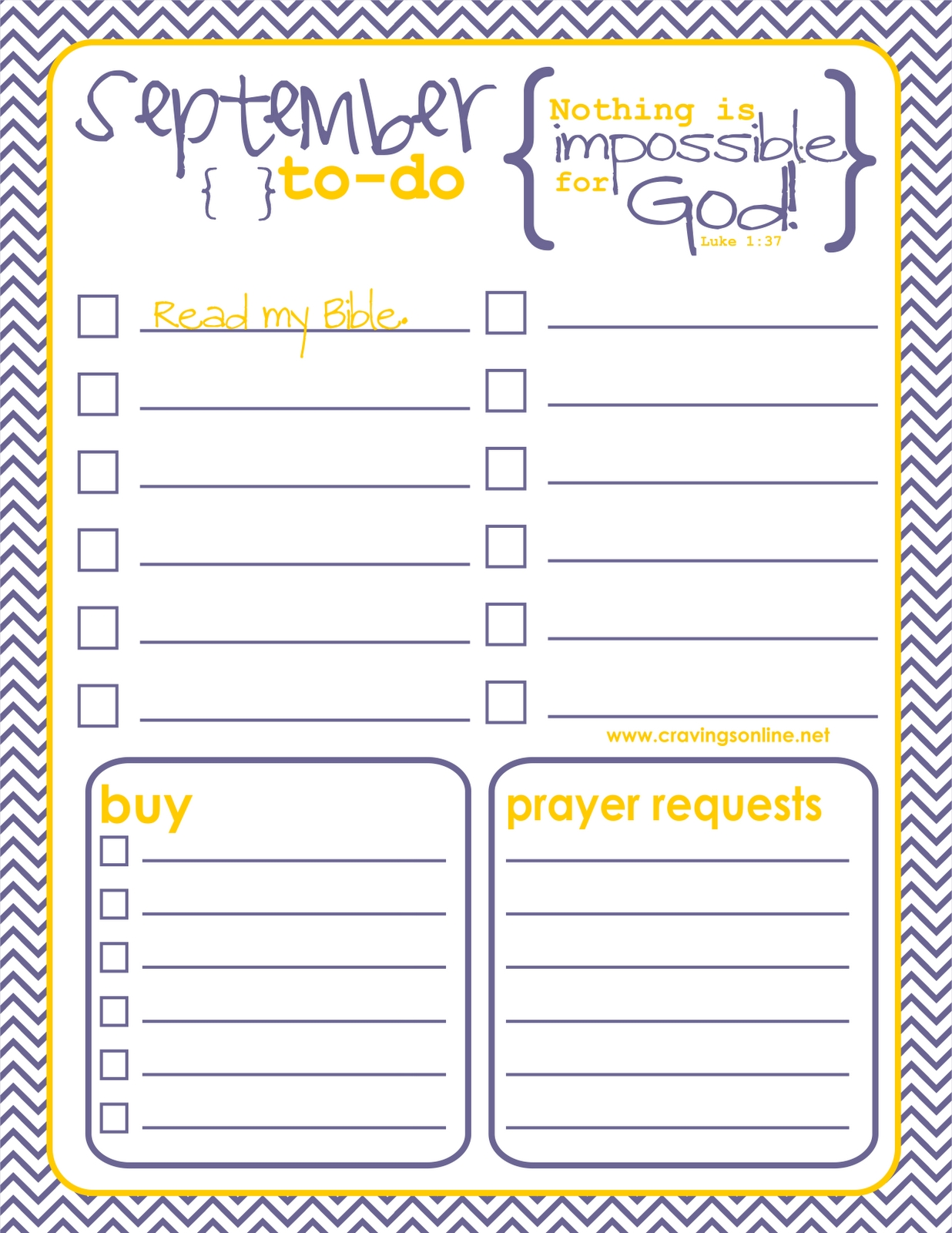The September Free Printable To-Do List Is Here With Memory Verse for Cute Weekly To Do List 21431