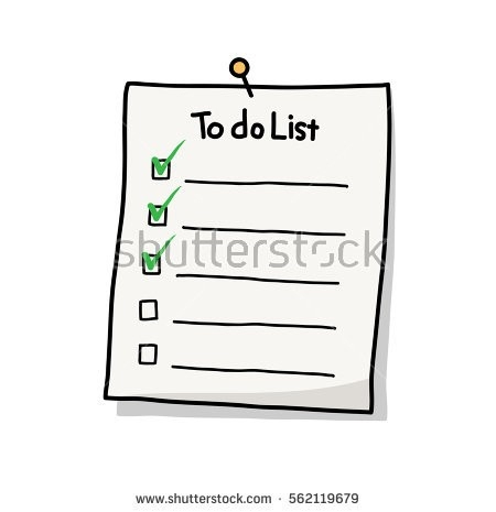 Things To Do List Stock Images, Royalty-Free Images & Vectors throughout To Do List Clipart Black And White 20488