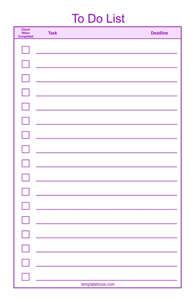To Do Checklist Template 2 inside Checklist Template Png 24283