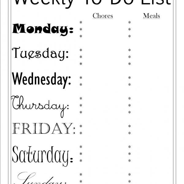 To Do List And Menu Printables – Pretty Providence Regarding Cute throughout Cute Printable To Do Lists Black And White 22734