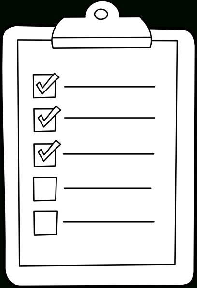 To Do List Clipart Black And White | Examples And Forms in Checklist Clipart Black And White 22254