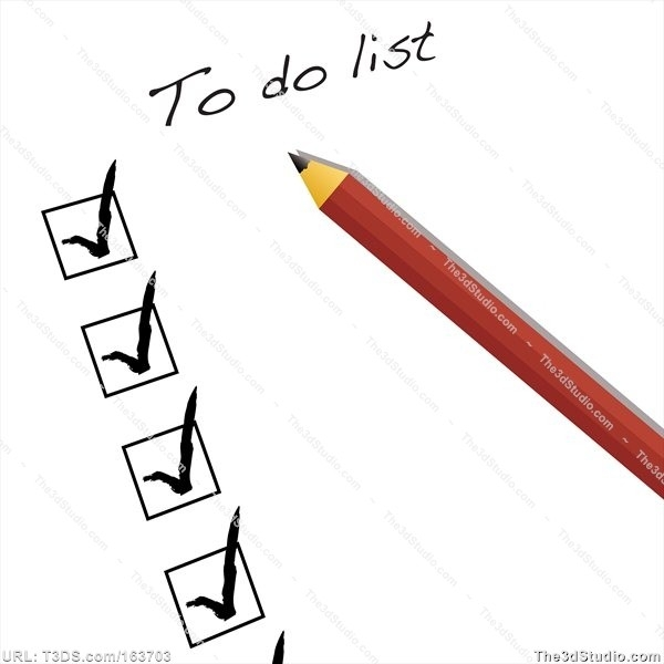 To Do List Clipart - Free Clip Art - Clipart Bay for Things To Do List Clipart 22234