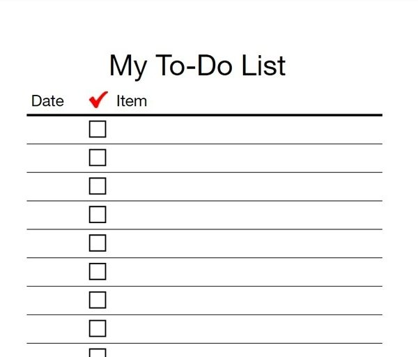 To Do List Printable Checklist  AsafonGgecCo Pertaining To To Do