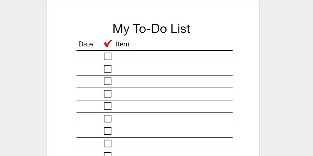To Do List Printable Checklist - Asafon.ggec.co pertaining to To Do List Printable Checklist 22824