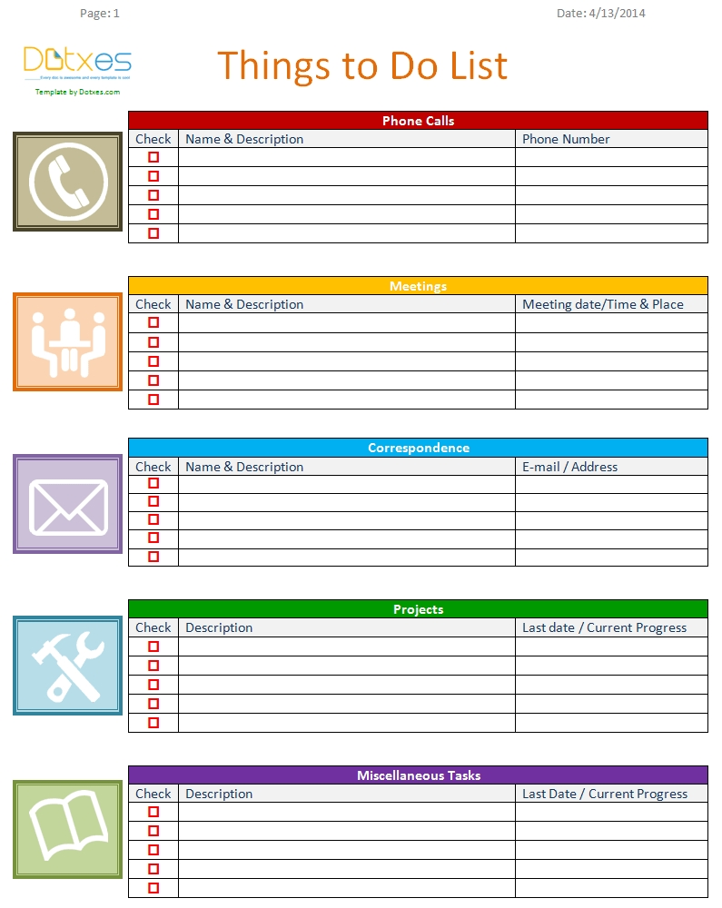 To Do List Template (Business Version) | List Templates - Dotxes pertaining to Things To Do List Template 24363