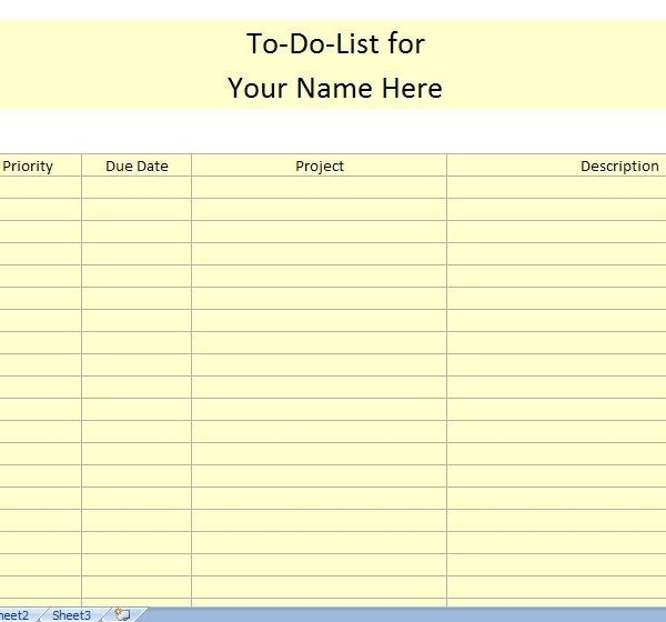 To Do List Template For Work | To Do List Template Within regarding Printable To Do List For Work 22654