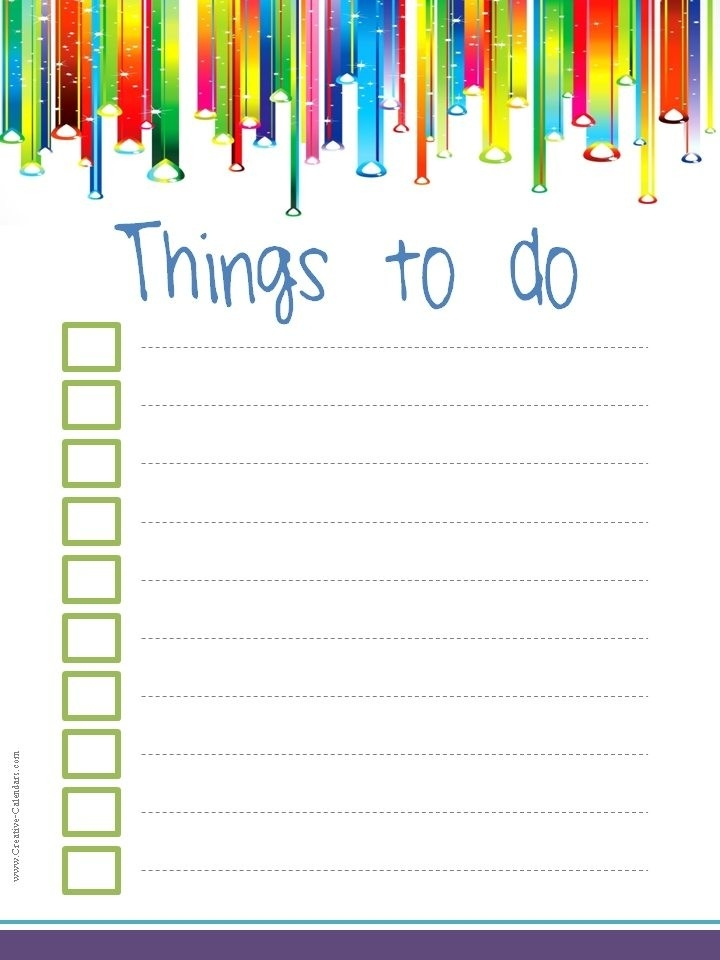 To Do List Template in Cute Checklist Template 22064