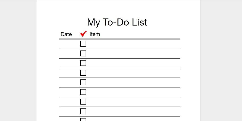 To Do List Template Printable | World Of Example with regard to To Do List Template Printable 22674