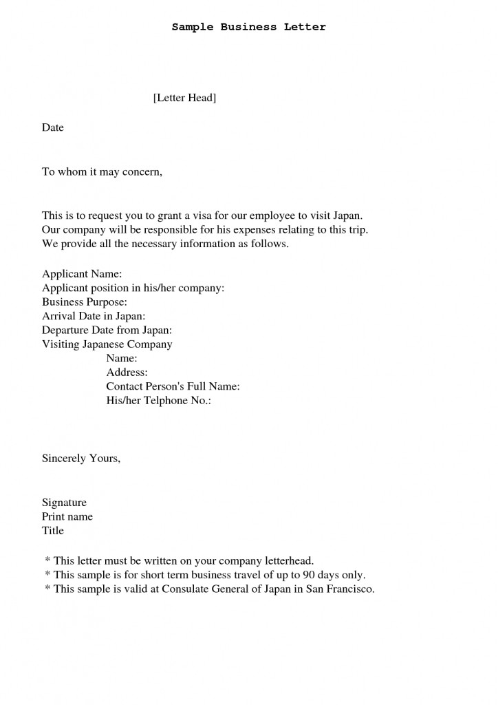 To Whom This May Concern Letter Ideas Of Sample Business Letter in Business Letter Format To Whom It May Concern 20128