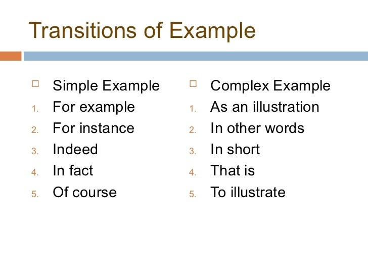 Transitions For Essays - By Ray Harris Jr pertaining to For Example Transitions 20539