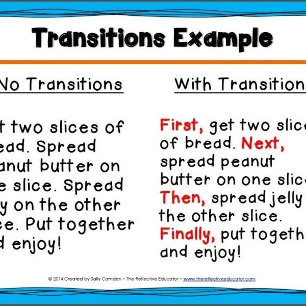 Transitions: Linking Ideas Together With For Example Transitions with regard to For Example Transitions 20539