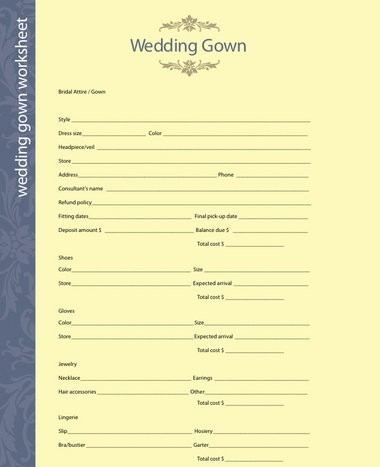 Use These Fill-In-The-Blank Wedding Planning Worksheets To Get for Blank Wedding Planning Checklist 19291
