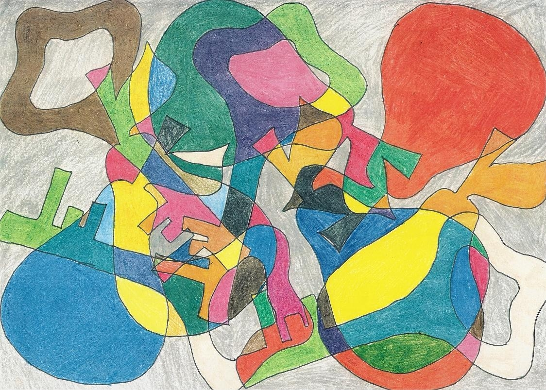 Visual Arts: Working With  Organic And Geometric Shapes in Shape In Art Examples 23776
