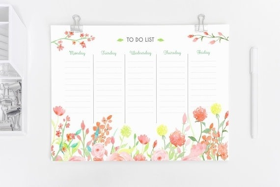 Weekly Planner Printable A4 A5 Size To Do List Instant Regarding inside Weekly To Do List Printable Floral 22294