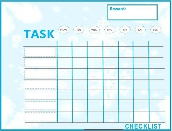 Weekly To Do List For Kids   World Of Example throughout Weekly To Do List For Kids 21611