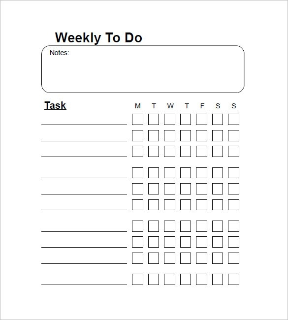 weekly to do list template examples and forms