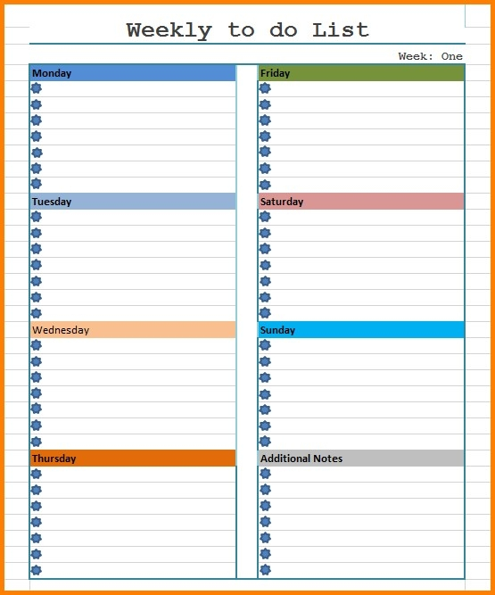 Weekly To Do List Template Word - Asafon.ggec.co for Weekly To Do List Template For Word 22784