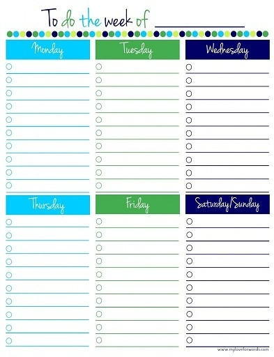 Weekly Work To Do List Template | To Do List Template regarding Cute To Do List Template Word 22634
