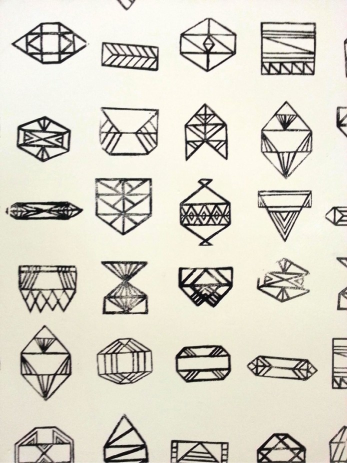 West End Girl Geometric Shapes Art Found At Byu Art Museum | West in Geometric Shapes Design Tattoo 24513