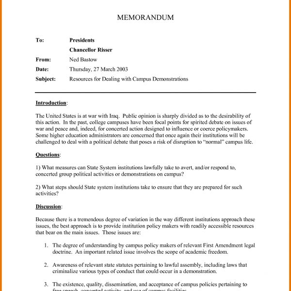 what is memo format essential apa business example