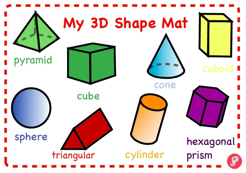 Worksheets For All | Download And Share Worksheets | Free On in 3D Shapes Names 19563