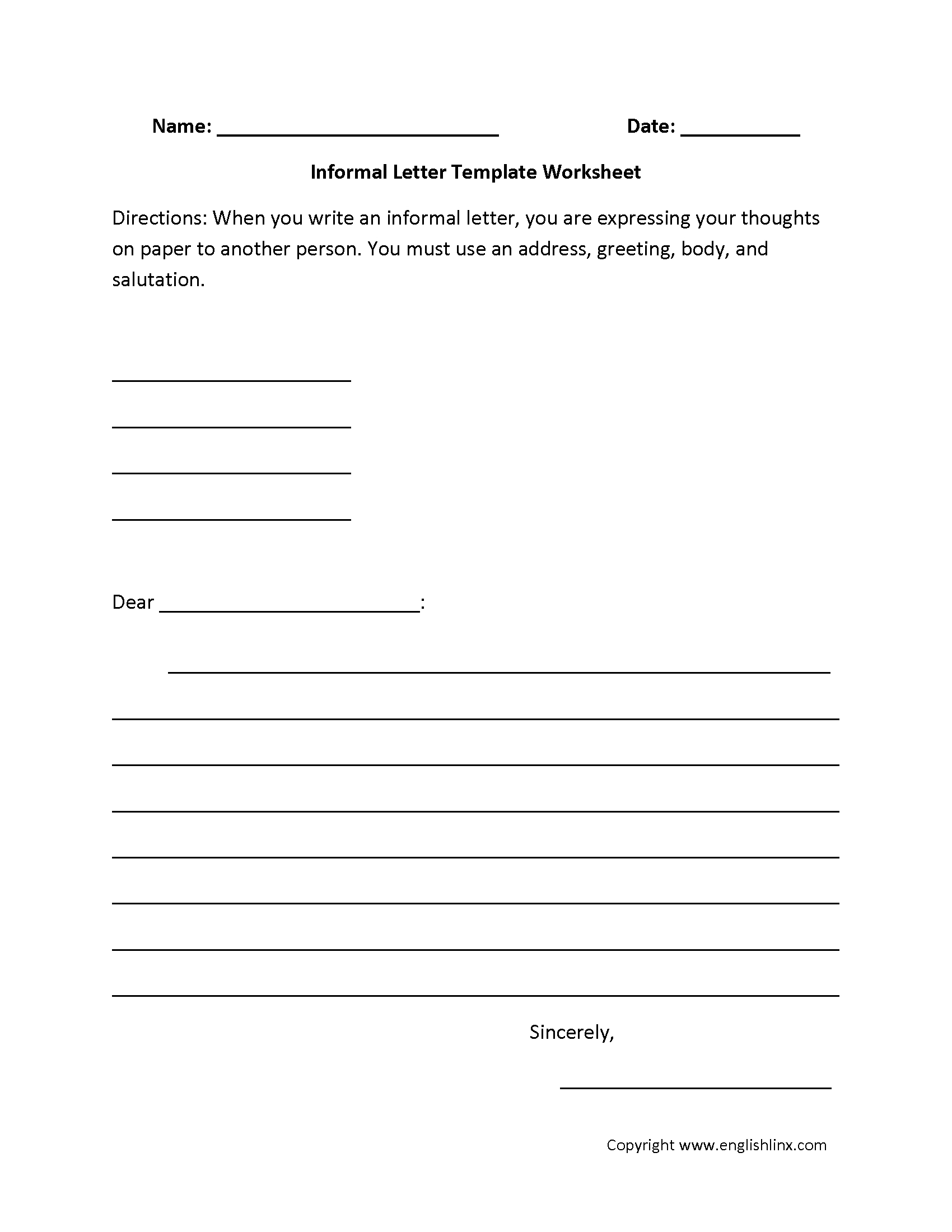 How to write an application letter 6th graders