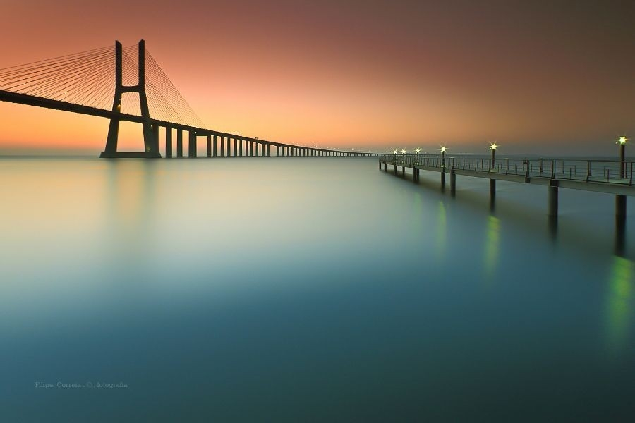 05.55 Am By Vasco Da Gama Bridge @ Lisbon - Portugal | Around The with regard to Copyright Example For Photography 28712