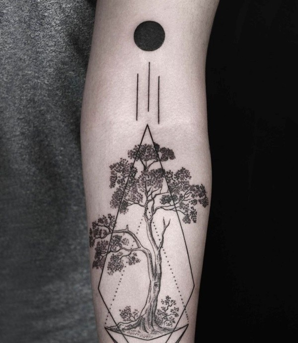 100 Breathtaking Geometric Tattoo Designs regarding Geometric Shape Tattoo 24869