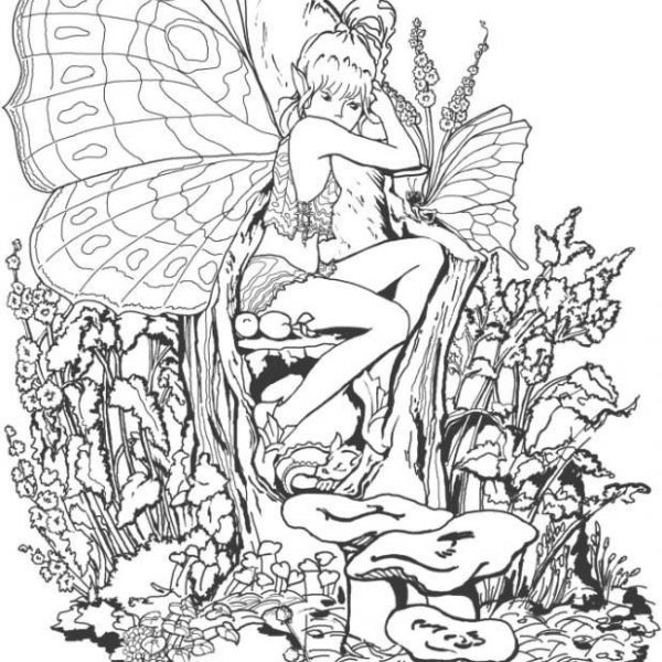 1000+ Ideas About Fairy Coloring Pages On Pinterest | Coloring for Detailed Coloring Pages Of Fairies