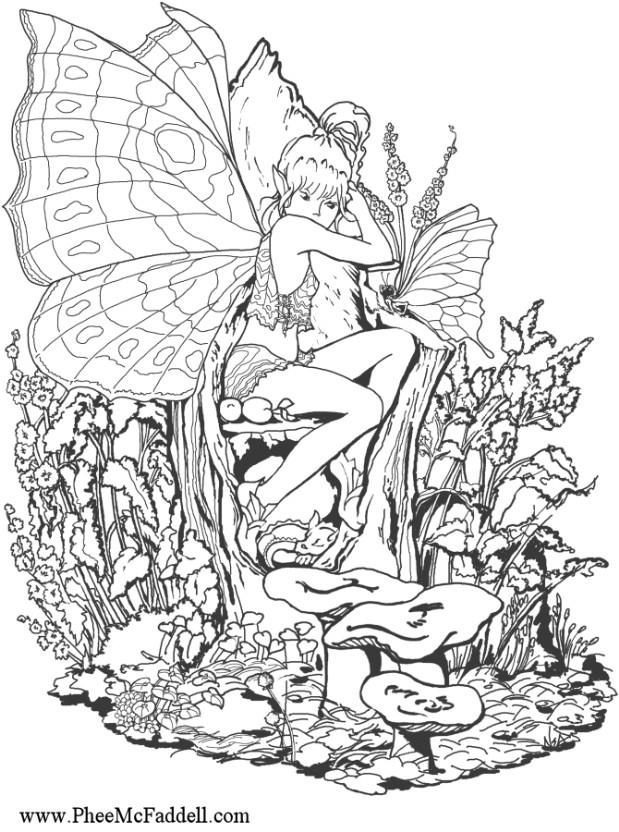 1000+ Ideas About Fairy Coloring Pages On Pinterest | Coloring for Detailed Coloring Pages Of Fairies 29472