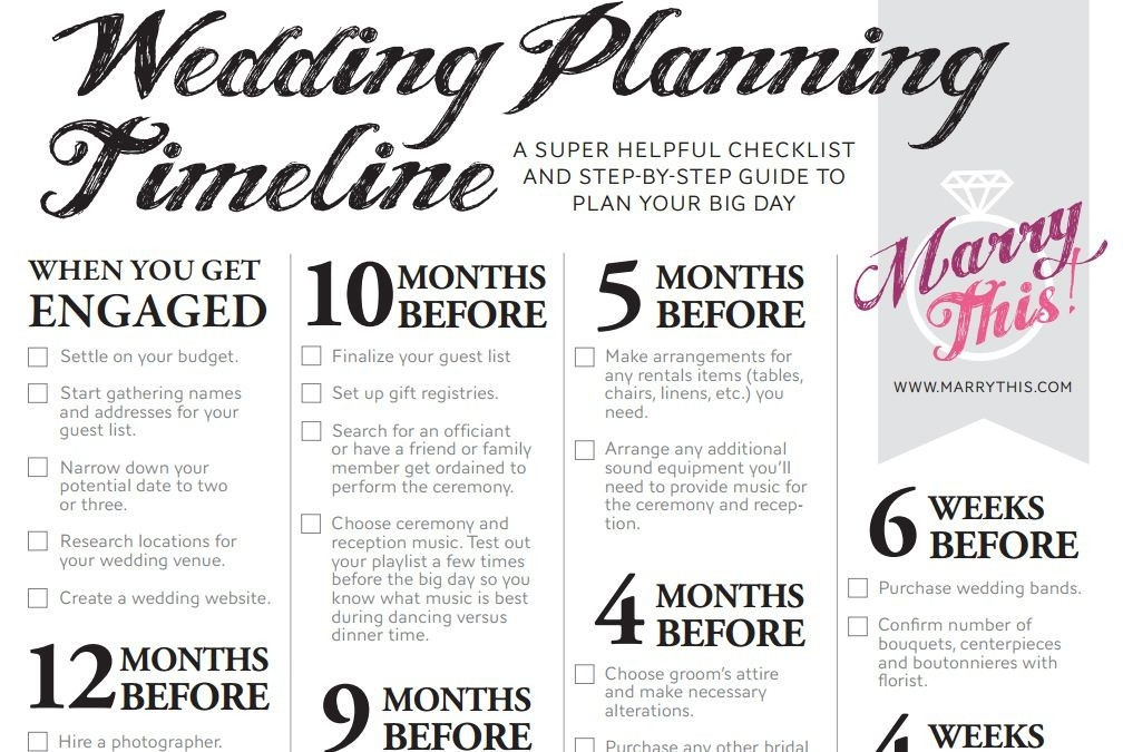 11 Free, Printable Checklists For Your Wedding Timeline inside Printable Wedding Planning Checklist 26139